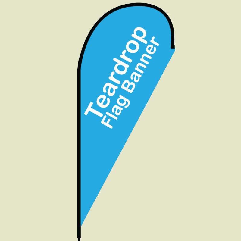 Teardrop flying Flag banner